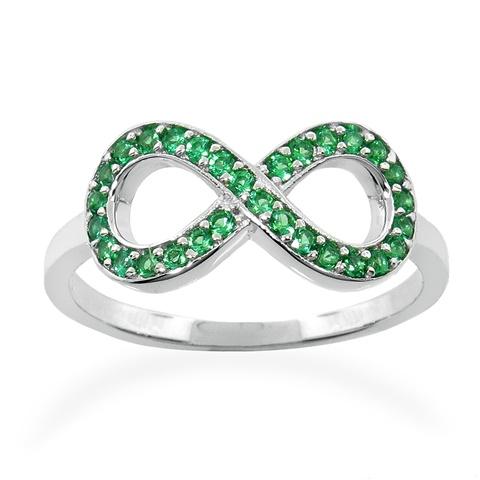 emerald infinity ring