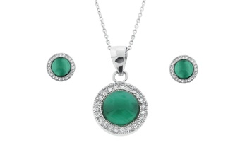Green Cats Eye Set