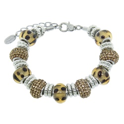 Charmed Links Leopard Crystal Bracelet