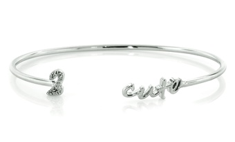 2 Cute Sterling Silver Bangle