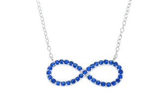 Blue Sapphire Infinity Necklace