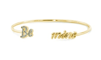 Be Mine Gold Plated Silver Bangle