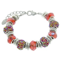 Charmed Links Orange Crystal Bracelet