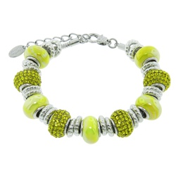 Charmed Links Bright Yellow Crystal Bracelet