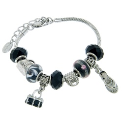 Charmed Links Black Purse Bracelet