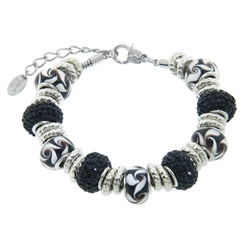Charmed Links Black Crystal Bracelet