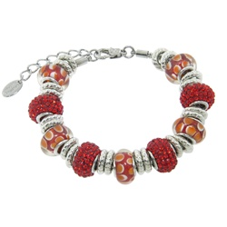 Charmed Links Red Crystal Bracelet