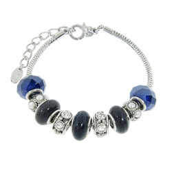 Charmed Links Blue Sandstone Bracelet