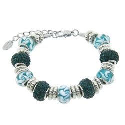 Charmed Links Emerald Crystal Bracelet