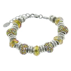 Charmed Links Yellow Crystal Bracelet